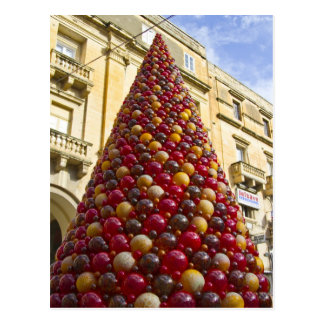 Mdina Glass Christmas Tree Postcard