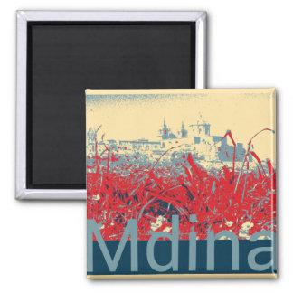 Mdina - Malta Imán Cuadrado