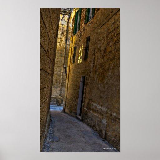 Mdina, Malta Póster