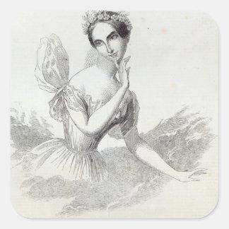 Mdlle Lucile Grahn Square Sticker