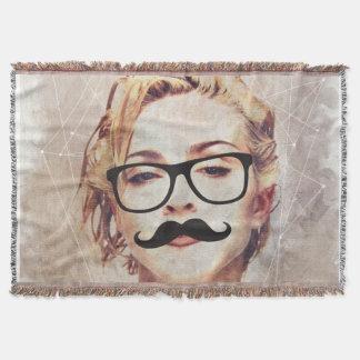 MDNA hipster by ilya konyukhov (c) Throw Blanket