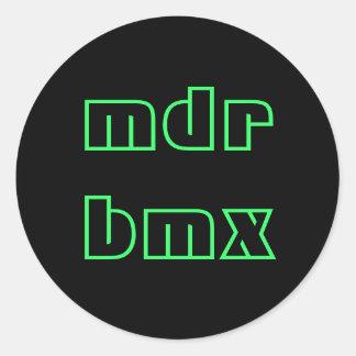 mdr bmx classic round sticker