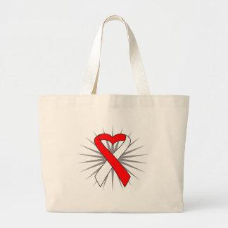 MDS Awareness Heart Ribbon Bags