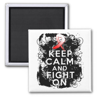 MDS Awareness  Keep Calm and Fight On 2 Inch Square Magnet