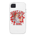 MDS Awareness Modern Rosie Fight Like a Girl iPhone 4 Case