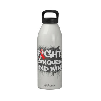 MDS Fight Conquer and Win Reusable Water Bottle