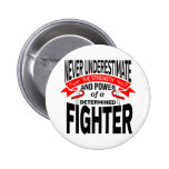 MDS (Myelodysplastic Syndromes) Determined Fighter Pinback Button