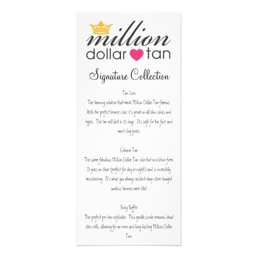 MDT Signature Collection Vertical Card Customized Rack Card