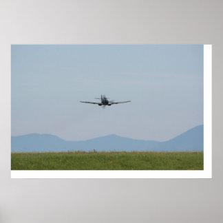 Me-109 bajo E-3 Emilio Poster