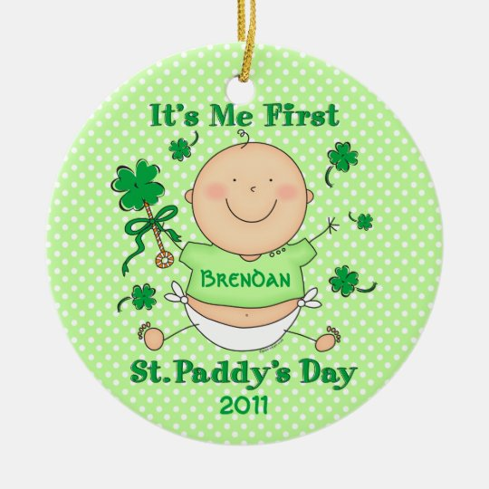 Me 1st St. Paddy's Day Custom Ornament