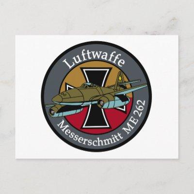 O caça à jato Messerschmitt Me 262:  Me_262_postcard-p239305168296742964qibm_400