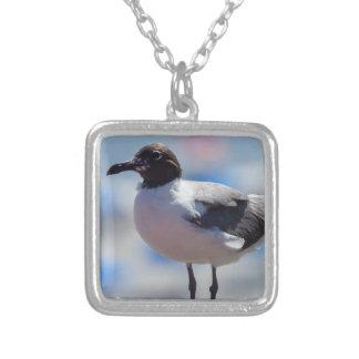 Me A Seagull Square Pendant Necklace