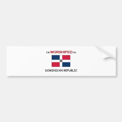 Me adoran en la REPÚBLICA DOMINICANA Pegatina Para Auto