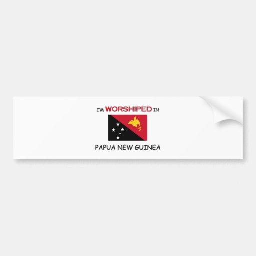 Me adoran en PAPÚA NUEVA GUINEA Etiqueta De Parachoque