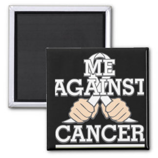 Me Against Lung Cancer Refrigerator Magnets