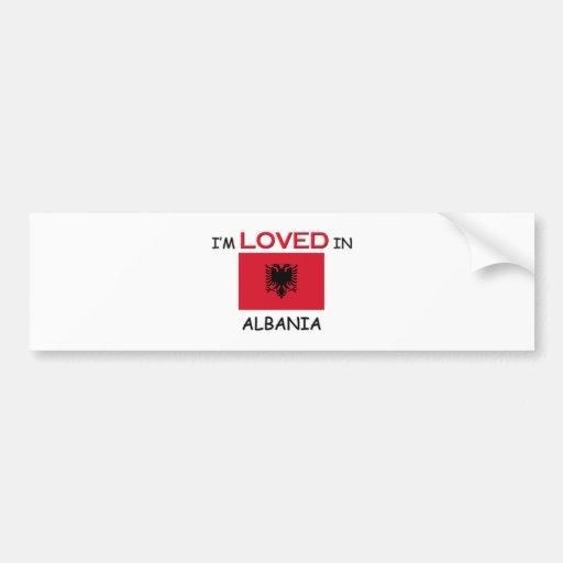 Me aman en ALBANIA Etiqueta De Parachoque