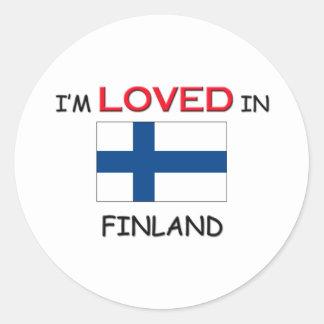 Me aman en FINLANDIA Pegatinas Redondas