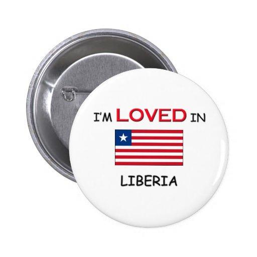 Me aman en LIBERIA Pin Redondo De 2 Pulgadas