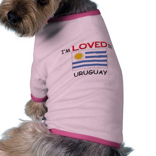 Me aman en URUGUAY Camisa De Mascota