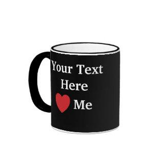 Me amo/amo añado la taza de la plantilla del texto