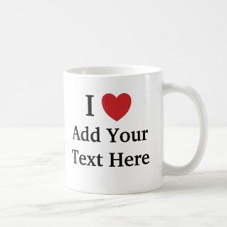 Me amo/amo taza de la plantilla - añada el texto