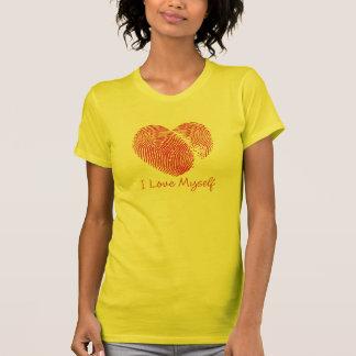 Me amo camiseta básica de las señoras