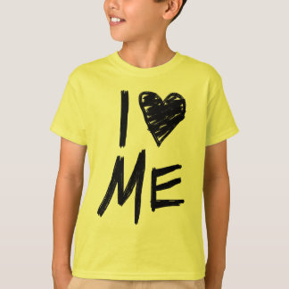 Me amo, camiseta video amarilla de los chicas polera