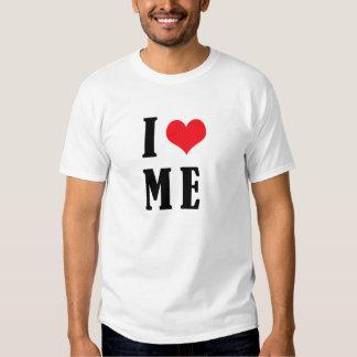 Me amo corazón de I YO camiseta divertida del Remeras