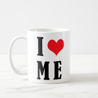 Me amo corazón de la taza I YO taza divertida del
