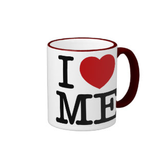 Me amo corazón yo dignidad de la confianza del taza de dos colores