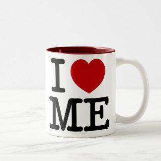 Me amo corazón yo dignidad de la confianza del taza de dos tonos