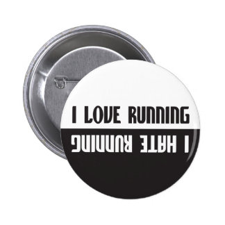 Me amo el correr odio correr pin redondo 5 cm
