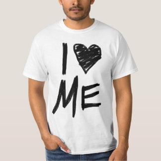 Me amo, garabateado la camiseta del corazón playera