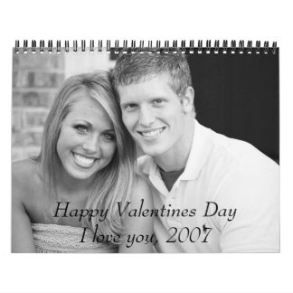 me and bobo first date bw, Happy Valentines Day... Wall Calendar