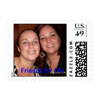 Me and Jenni, Friends for Life Postage Stamp