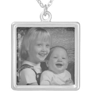 Me and Jimmie Square Pendant Necklace