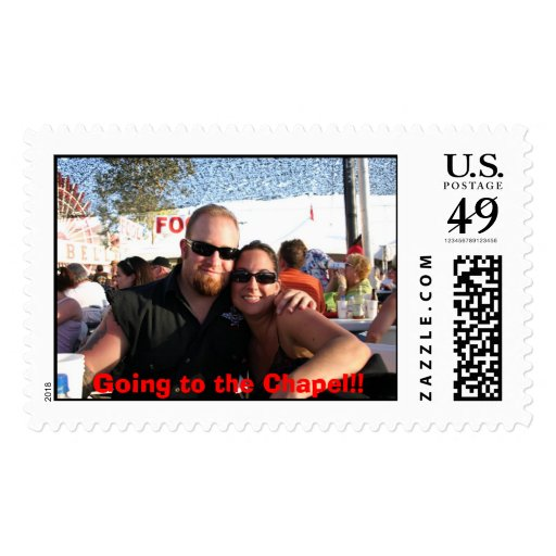 me and jon, Going to the Chapel!! Postage Stamp