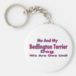 Me And My Bedlington Terrier Dog Keychain
