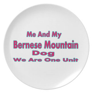 Me And My Bernese Mountain Dog Party Plates