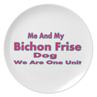 Me And My Bichon Frise Dog Dinner Plates