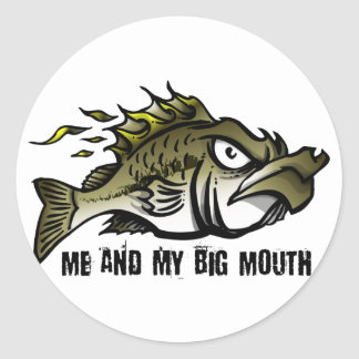 Me and my Big Mouth Classic Round Sticker