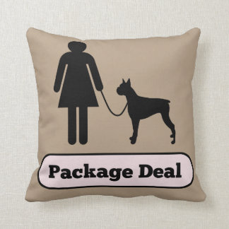 Me and My Boxer Dog Package Deal Throw Pillow