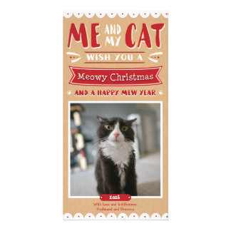 Me and My Cat Christmas 4x8 Photocard Card