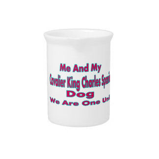 Me And My Cavalier King Charles Spaniel Dog Beverage Pitchers