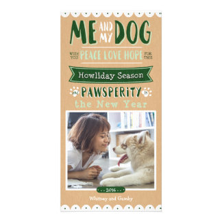 Me and My Dog 4x8 Photocard Card