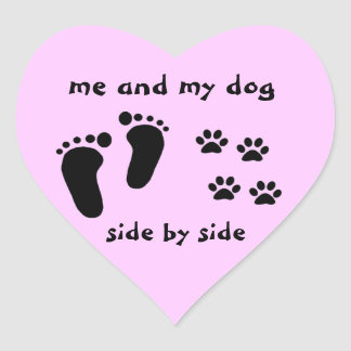 Me and My Dog Heart Sticker