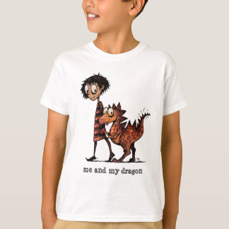 Me and My Dragon - Cute and Funny Custom Kids T-Shirt