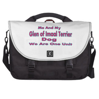 Me And My Glen of Imaal Terrier Dog Laptop Messenger Bag