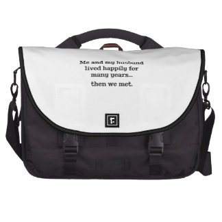 Me And My Husband Lived Happily For Many Years Laptop Commuter Bag