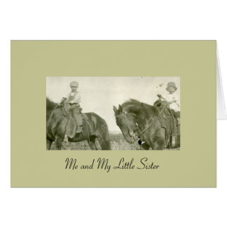 Me and My Little Sister Stationery Note Card